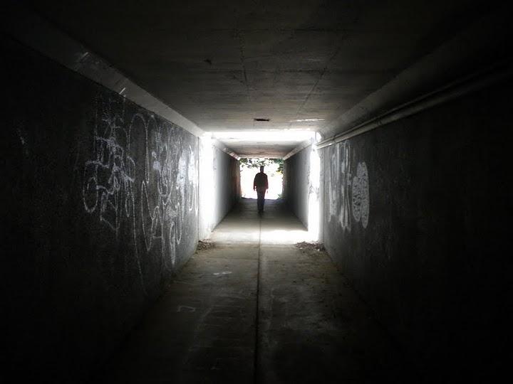 Tunnel under highway 13