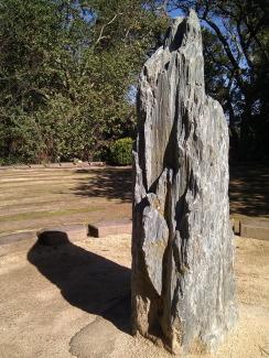 Mercy Center labyrinth rock